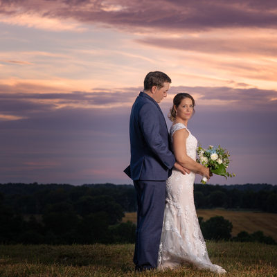 North Carolina mountains Couples sunset portrait