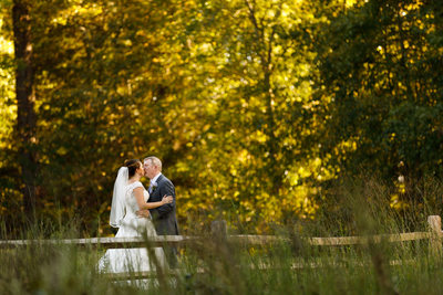 Couple's Portrait at Cedar Grove Acres in afternoon sun
