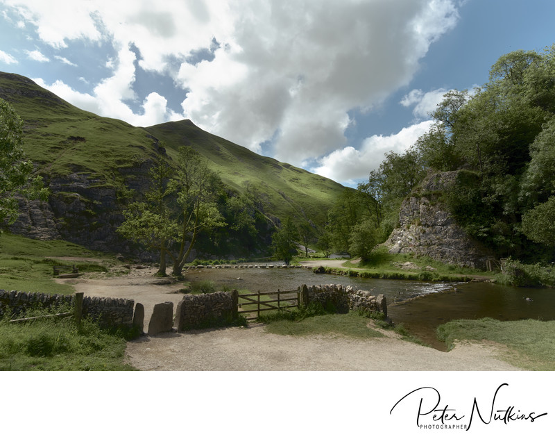 Dovedale Towards Thorpe Cloud In The Peak District