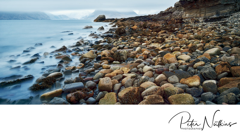 Elgol Beach With Cullins In Mist