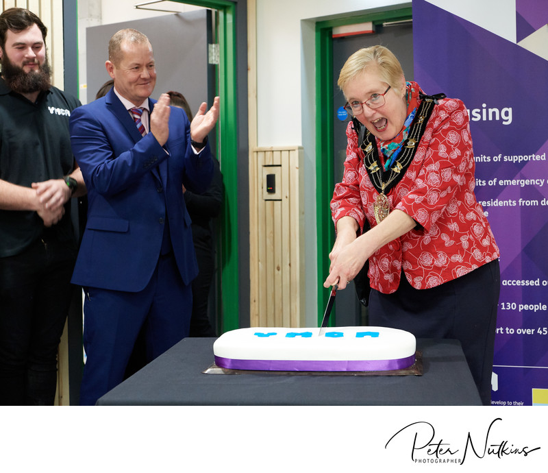 Cutting The YMCA 150 Cake