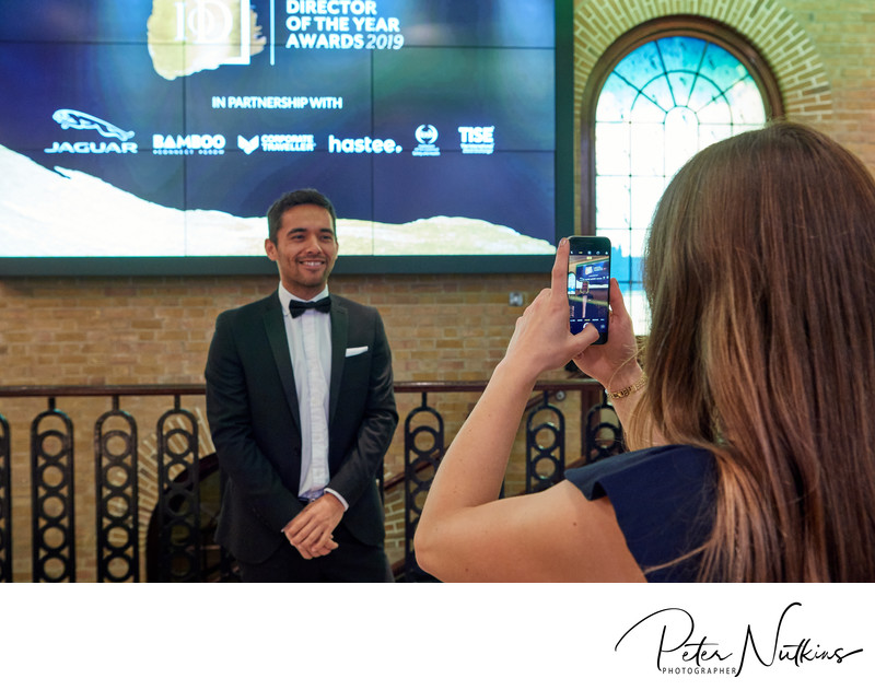 Photographing Guests At Director Of The Year Awards