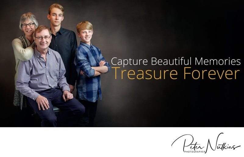 Studio Family Portrait Photographer In Your Home