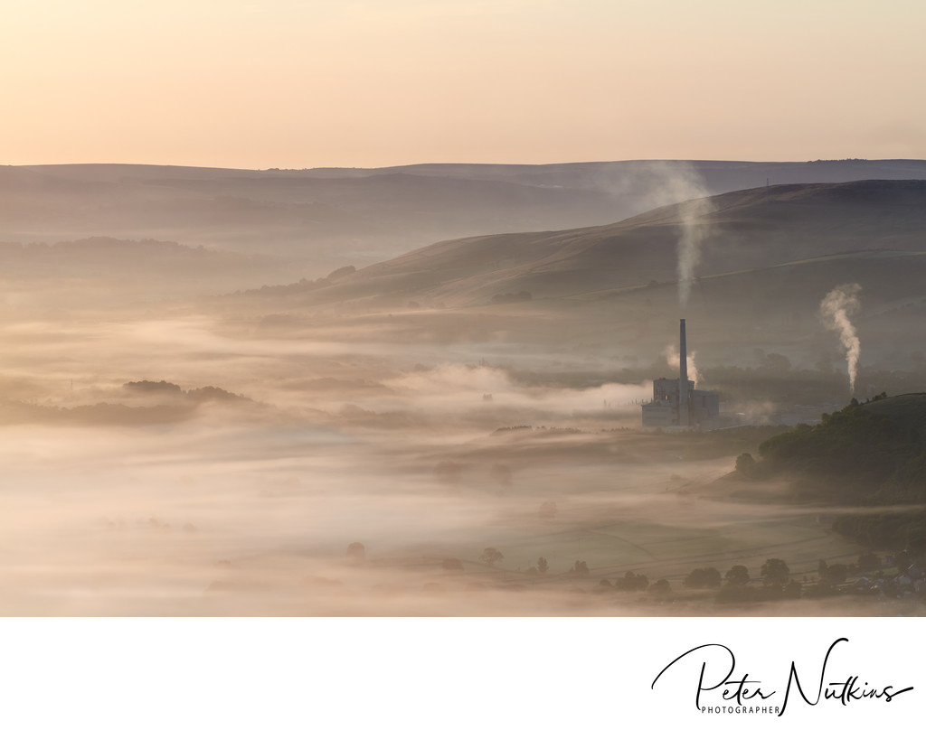 Morning Mist Over Castleton
