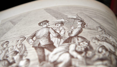 Close Up View Of Library Lithograph