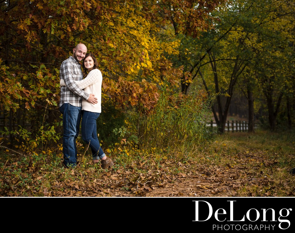 Fall Engagement Pictures at Latta Plantation