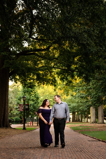 USC Horseshoe Engagement Photographs