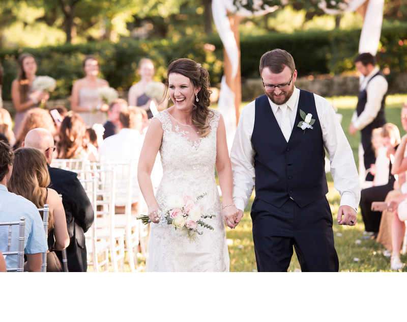 Fun Wedding Ceremony at Haseltine Estate