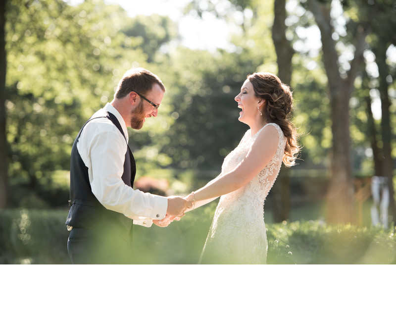 Fun Wedding Photographs at Haseltine Estate