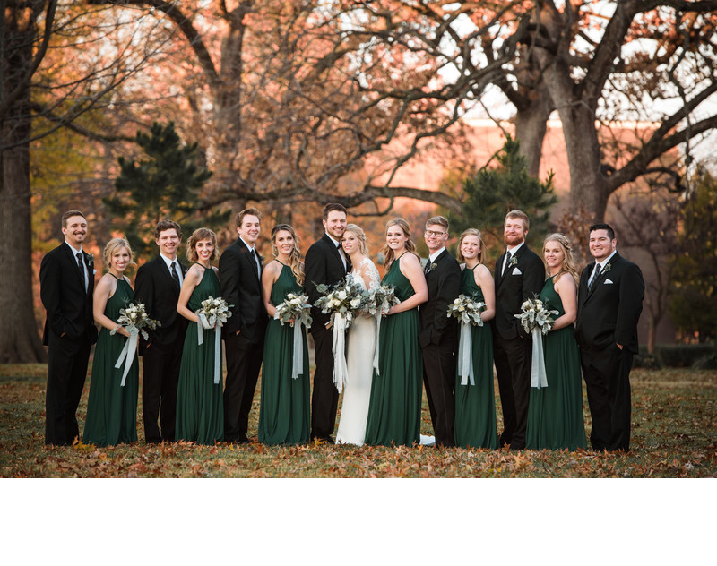 Bridal Party at Drury Stone Chapel
