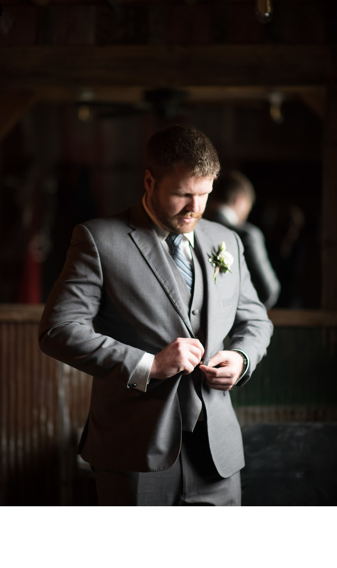 Groom at Gambrel Barn