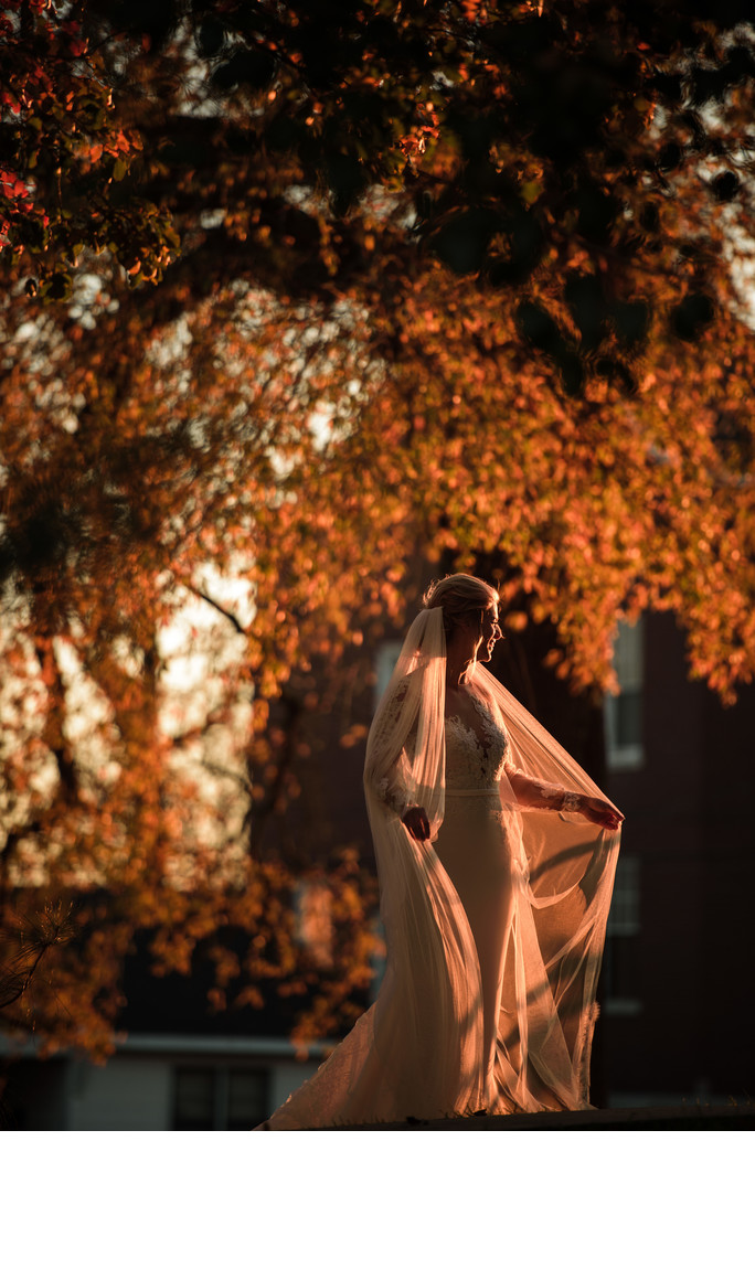 Sunset Wedding at Drury Stone Chapel