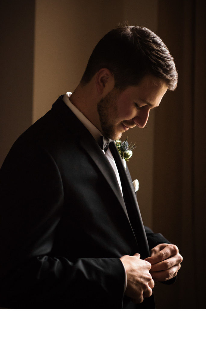 Groom at Drury Stone Chapel