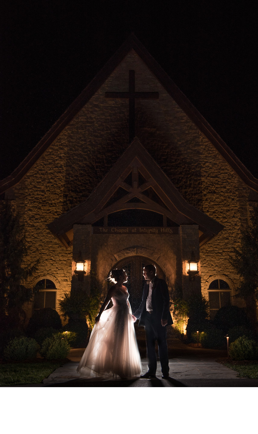 Nighttime Wedding Photos at Integrity Hills