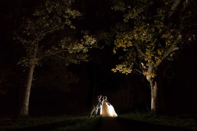 Wedding Photos at Night in Mount Vernon