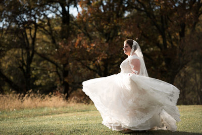 Bride at Gambrel Barn