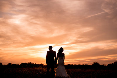 Silhouette Wedding Photos at Samuel Cedars