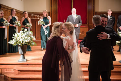 Indoor Ceremony at Drury Stone Chapel