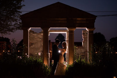 Nighttime Wedding Photographs at The Historic Firehouse