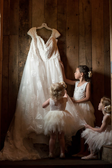 Flower Girls at Gambrel Barn