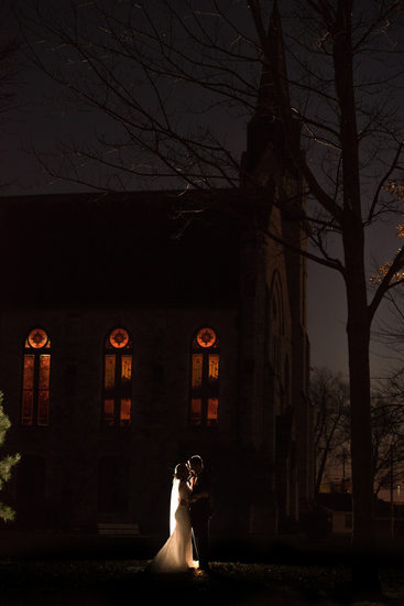 Drury Stone Chapel at Night in Springfield