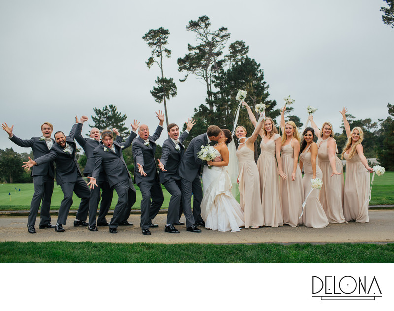 Pebble Beach Country Club Wedding Reception Photos