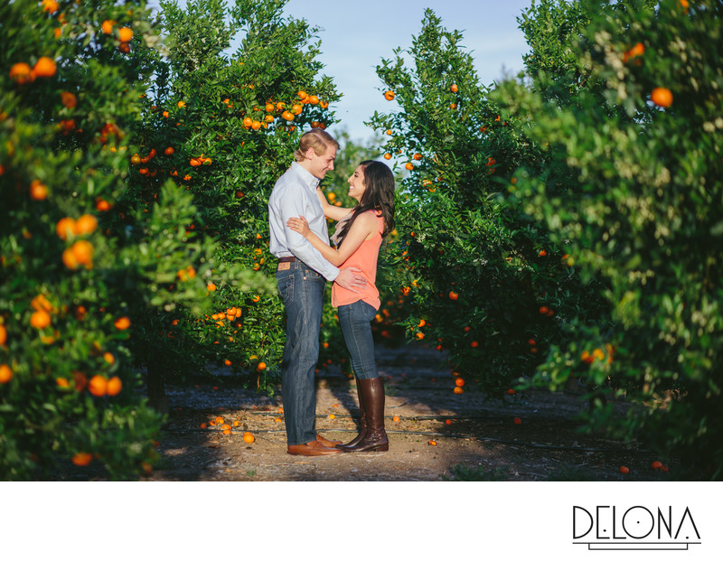 Fresno Orchard Engagement Session