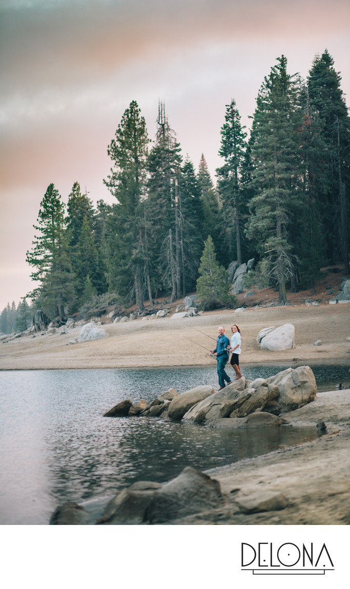 Shaver Lake Fishing Engagement Session