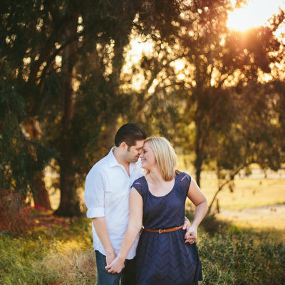 Woodward Park Sunset Engagement Photos
