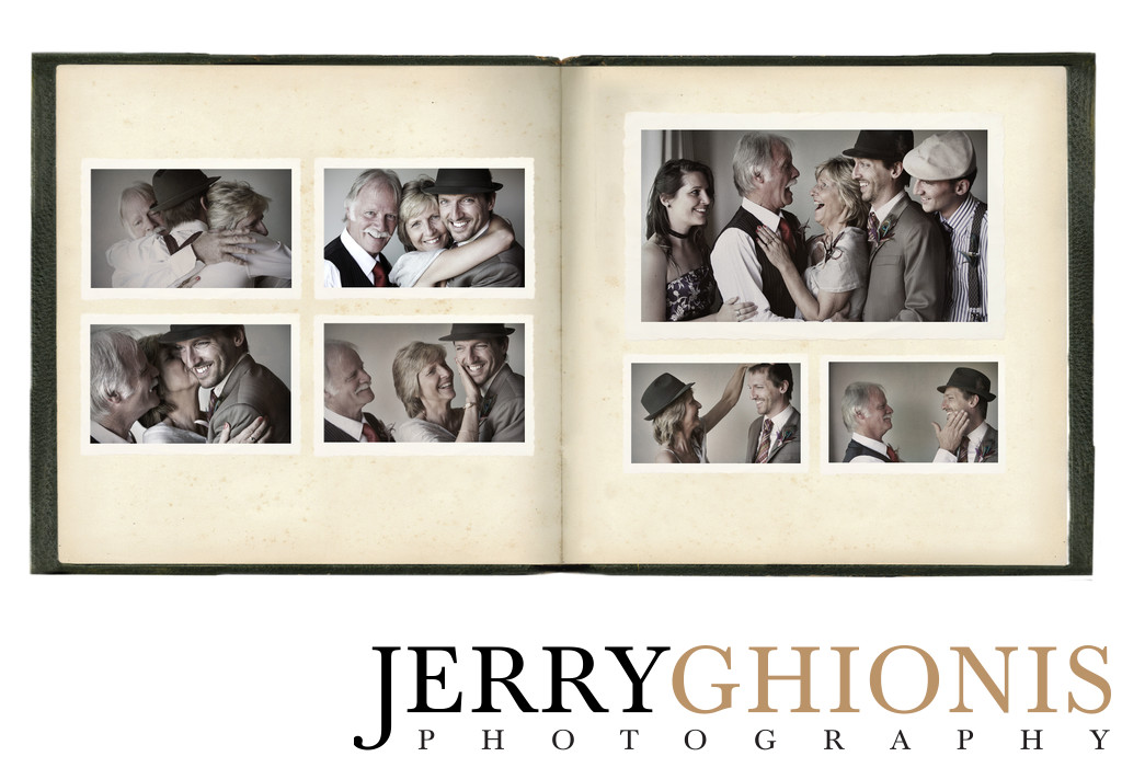 Groom and Family Formals in Wedding Album