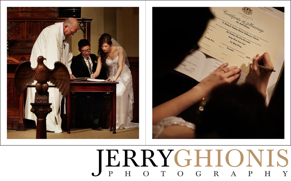 Marriage License Signing Photos