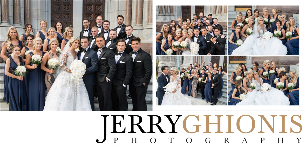 Wedding Party at Cathedral Basilica of the Sacred Heart