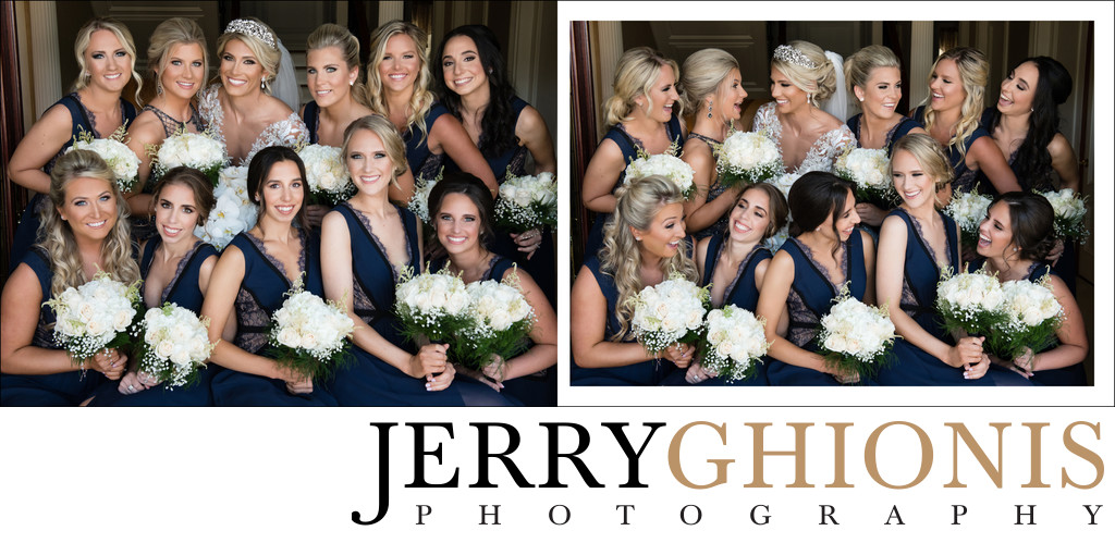 Bride with Ten Bridesmaids