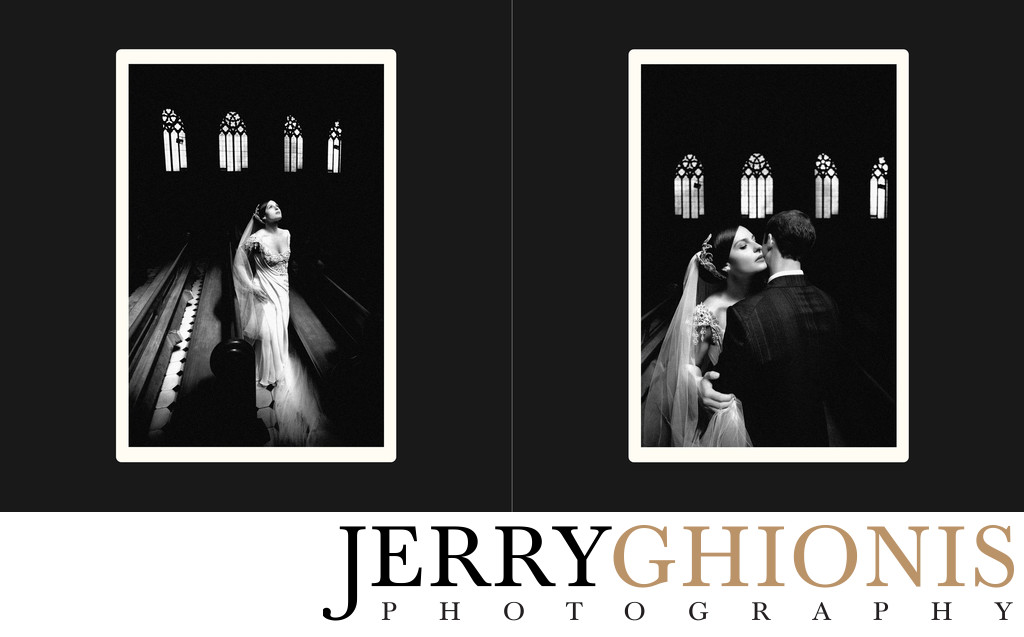 Dramatic Church Wedding Photos