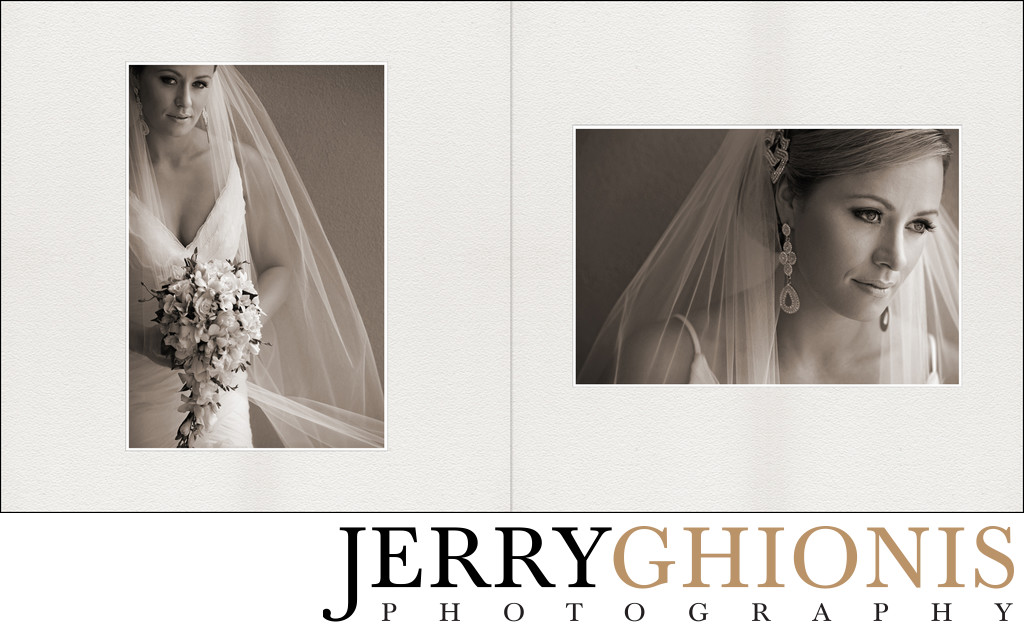 Portraits of Bride in Sepia Tone