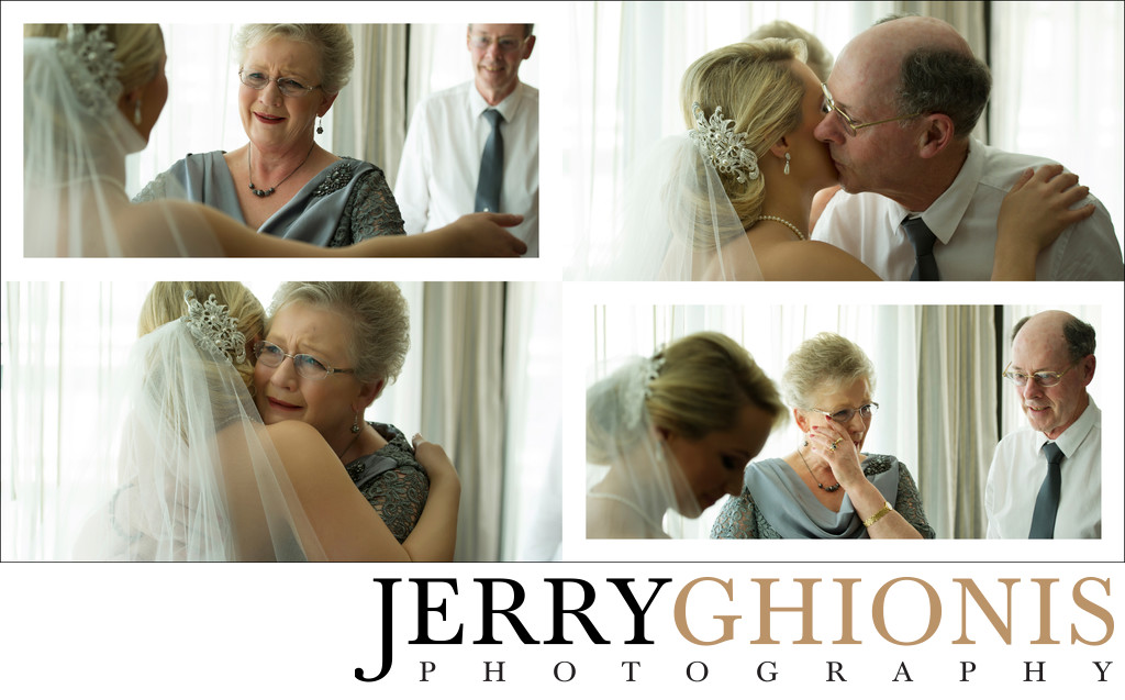 Grandparents Seeing Bride on Wedding Day