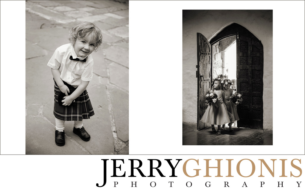Flower Girls and Boy in Kilt at Montsalvat