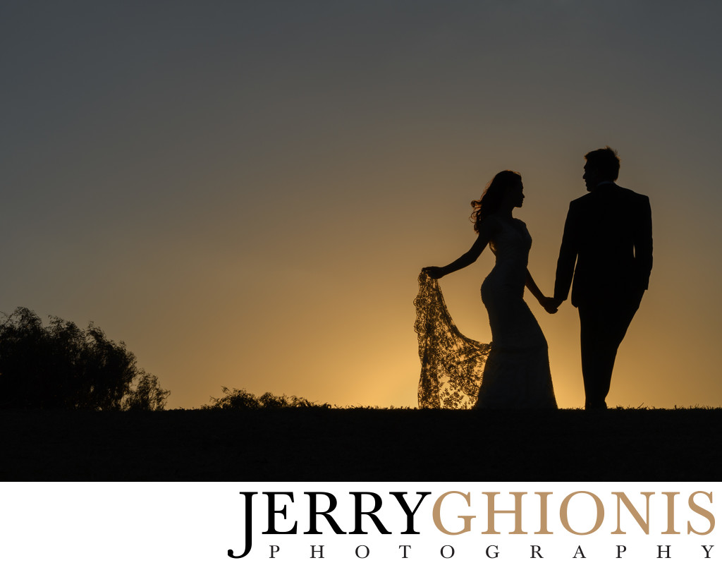 Sunset Silhouette at Destination Wedding