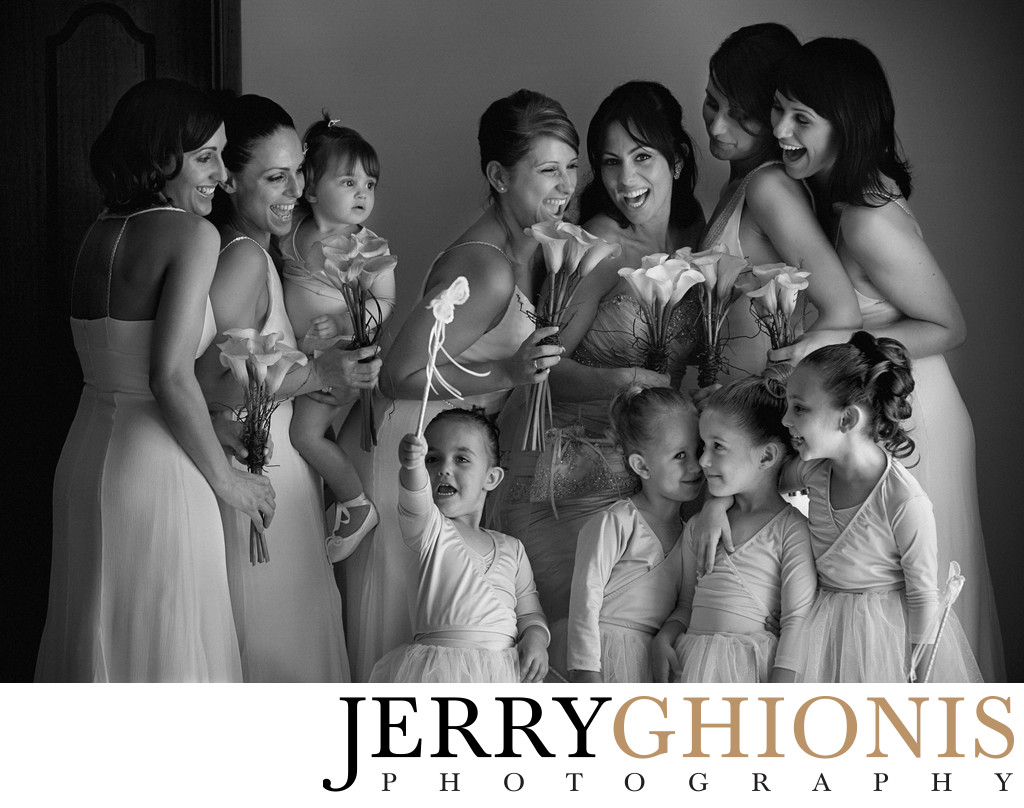 Five Bridesmaids and Flower Girls