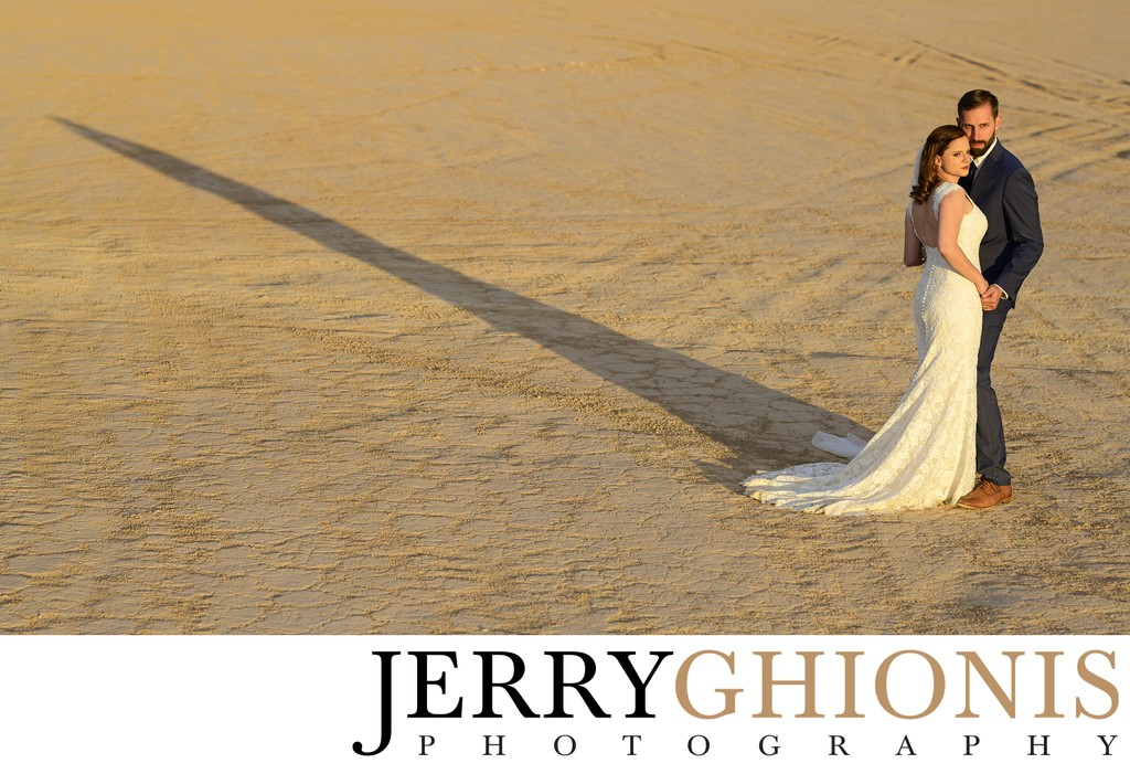 Dry Lake Bed Wedding Photos