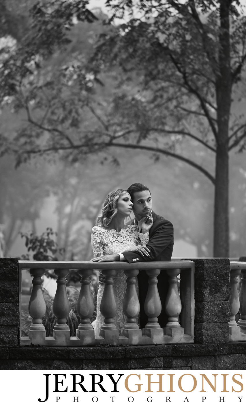 Black and White Destination Wedding Portraits
