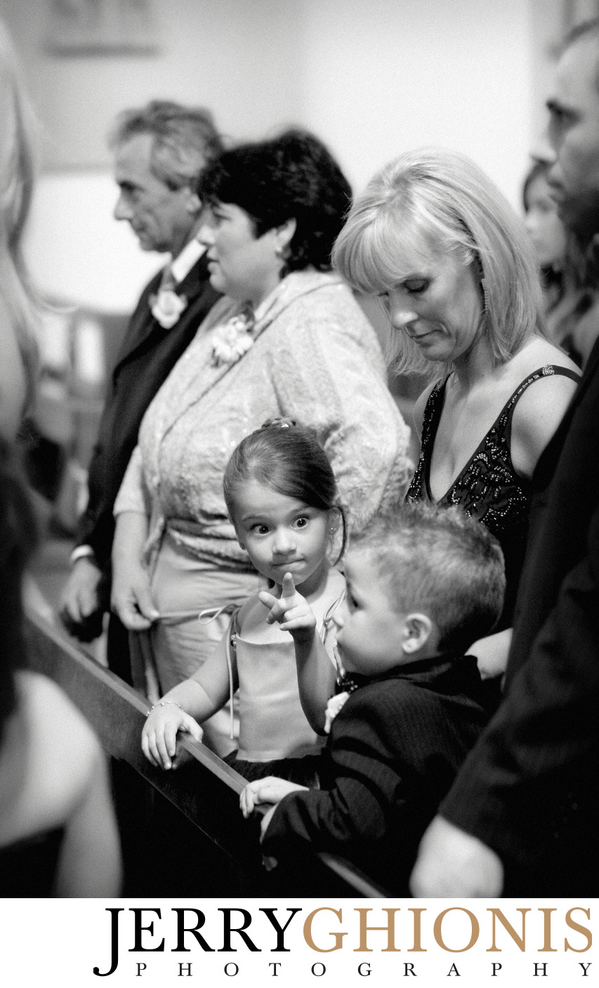 Young Wedding Guest During Ceremony