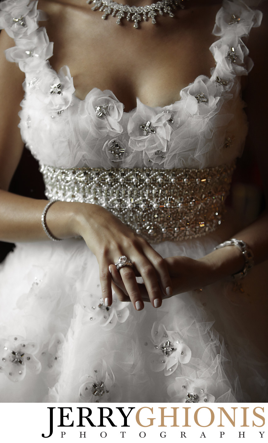 Bridal Details - Dress and Jewelry