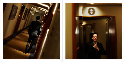 Groom Leaving Hotel for Wedding Ceremony