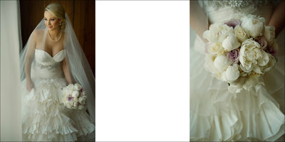 Bridal Portrait and Close Up of Bouquet