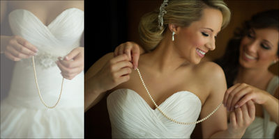 Bride with Pearls, Wedding Album Pages