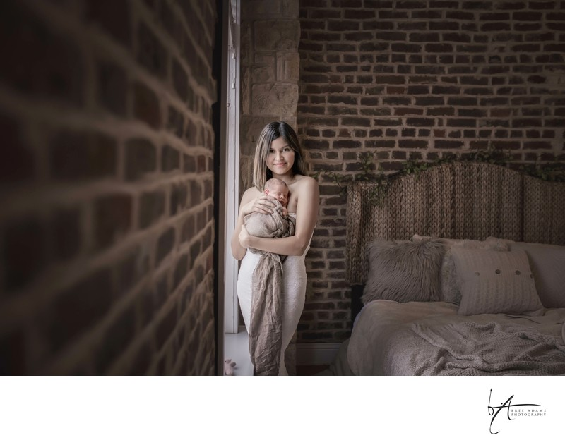 lifestyle newborn session Mansfield texas