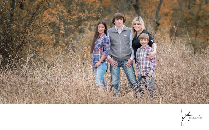 Family photos is outdoor fields