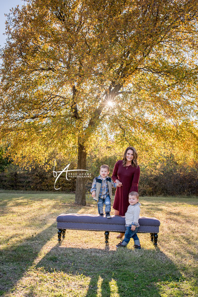 Twin photography family sessions