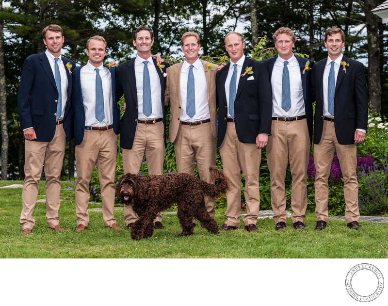Groomsmen in Backyard Wedding